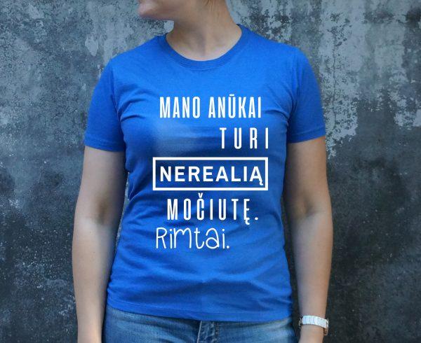Mėlyni marškinėliai MOT