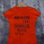 Oranžiniai marškinėliai VAI-Recovered