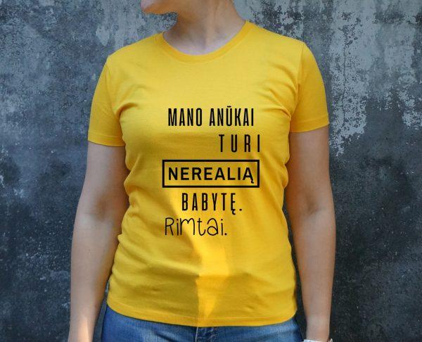 Geltoni marškinėliai MOT