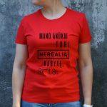 Raudoni marškinėliai MOT