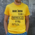 Geltoni marškinėliai VYR-Recovered