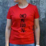 Raudoni marškinėliai MOT-Recovered