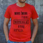 Raudoni marškinėliai VYR