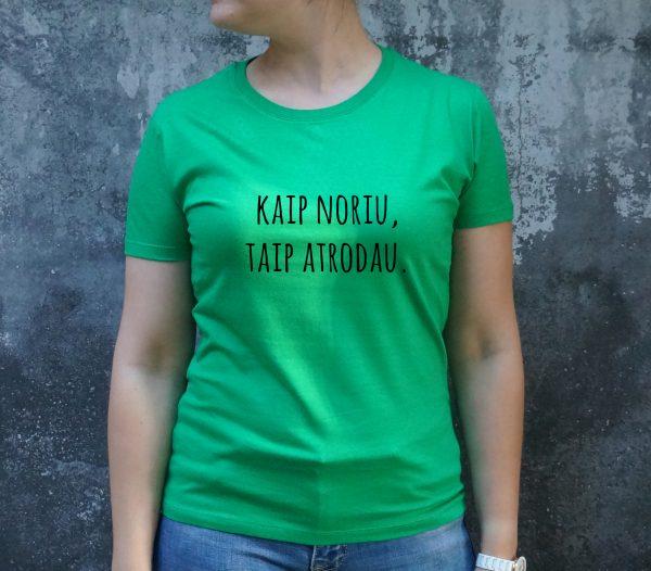 Zali marškinėliai MOT-Recovered