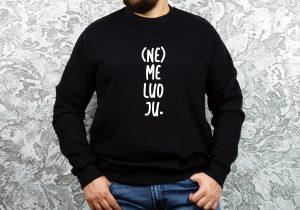 šmaikšti dovana unisex džemperis su užrašu nemeluoju