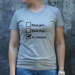pilki marškinėliai MOT-Recovered