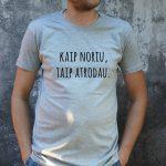 pilki marškinėliai VYR-Recovered