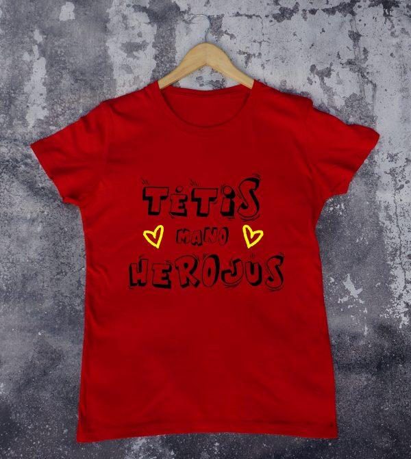 Raudoni marškinėliai VAI