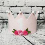 rožinė gimtadienio karūna mergaitei