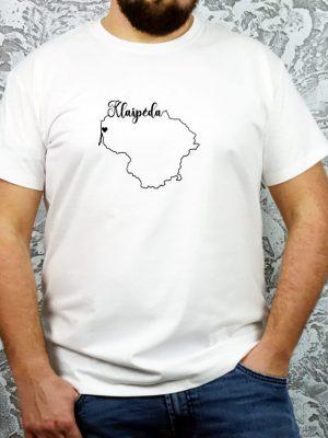 unisex marškinėliai su užrašu mano miestas Klaipėda