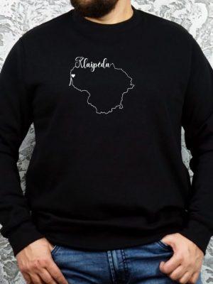 unisex džemperis su užrašu mano miestas Klaipėda