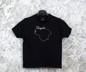 vaikiški marškinėliai su užrašu mano miestas Klaipėda