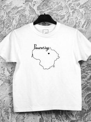 vaikiški marškinėliai su užrašu mano miestas Panevėžys