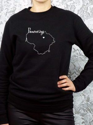 unisex džemperis su užrašu mano miestas Panevėžys ačiū labai