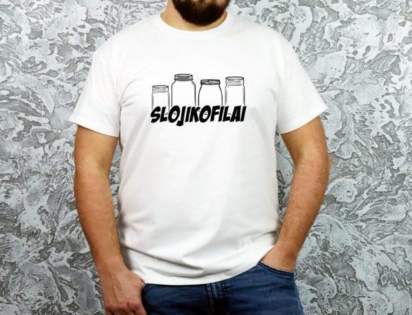 unisex originalūs marškinėliai su užrašu slojikofilai