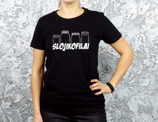 moteriški originalūs marškinėliai su užrašu slojikofilai