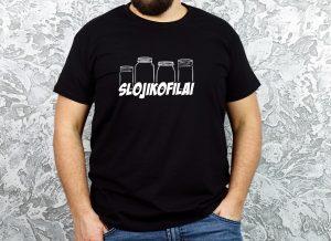 originalūs marškinėliai su užrašu slojikofilai