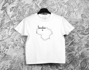 vaikiški marškinėliai su užrašu mano miestas Šiauliai
