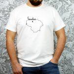 unisex modelio marškinėliai su užrašu mano miestas Šiauliai