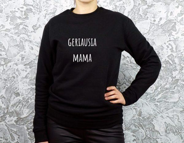 džemperis su užrašu geriausia mama