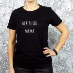 marškinėliai su užrašu geriausia mama