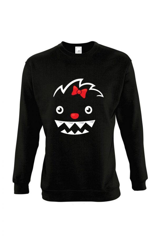 juodas vaikiškas džemperis mergaitei