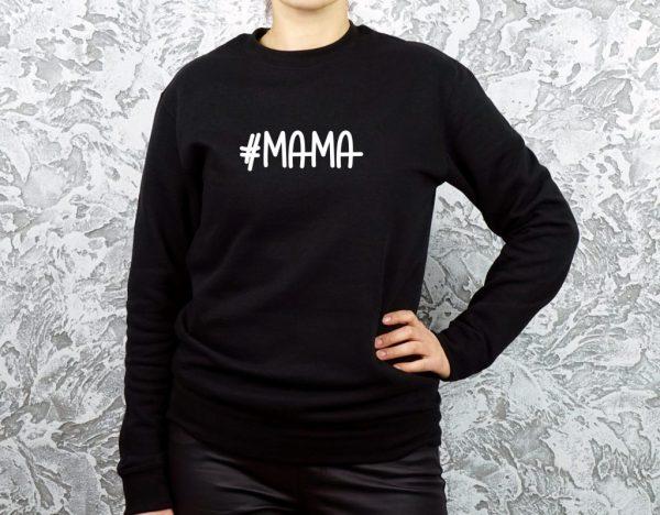džemperis su užrašu mamai