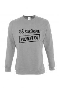 pilkas džemperis su užrašu aš sukūriau monstrą mamai arba tėčiui