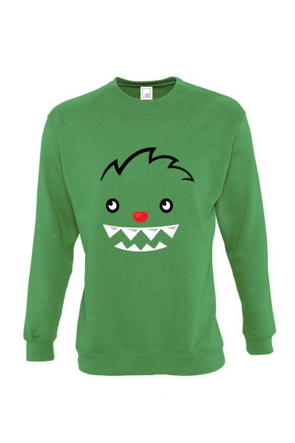 žalias vaikiškas džemperis berniukui