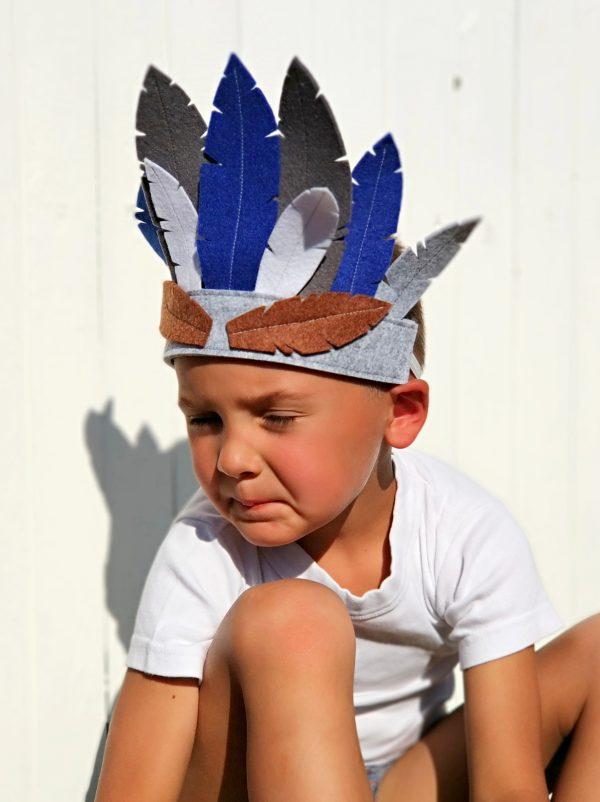 Vaikų gimtadienių atributika indėnų tema