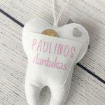 Personalizuotas dantukų fėjos pagalvėlė