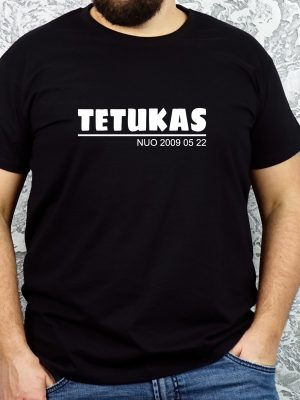 Vyriški marškinėliai su užrašu dovana tėvo dienai