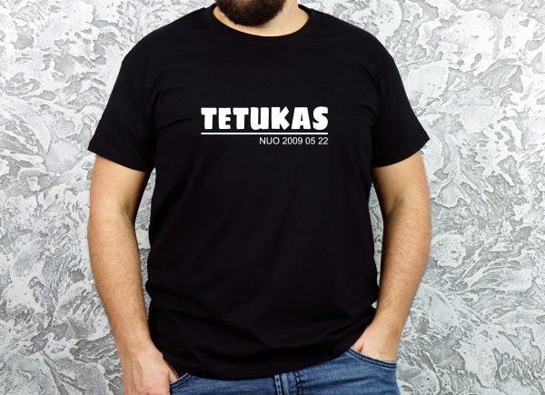 Juodi marškinėliai tetukas nuo