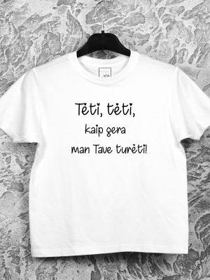Vaikiški marškinėliai tėvo dienai