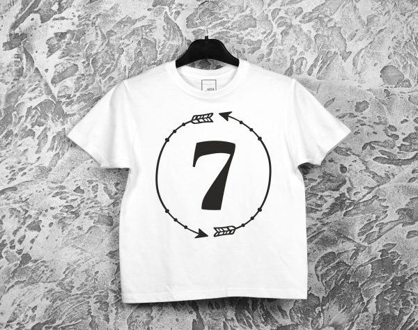Balti gimtadienio marškinėliai 7