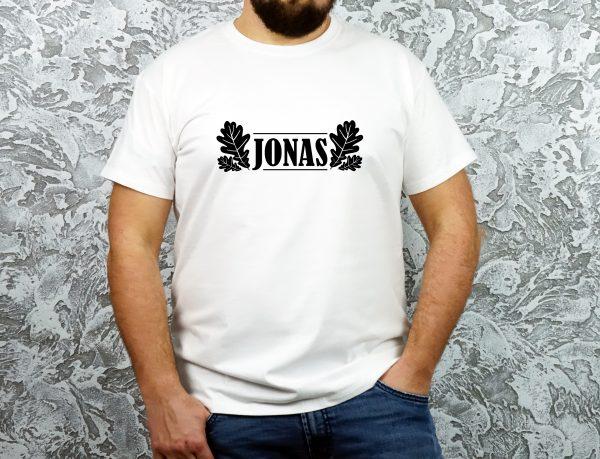 Balti vyriški marškinėliai JONAS