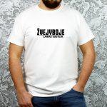 Balti vyriški marškinėliai Žvejyboje laikas sustoja