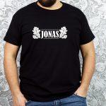 Juodi vyriški marškinėliai JONAS