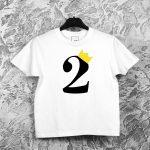 Vaikiški gimtadienio marškinėliai su skaičiumi