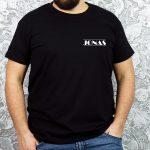 Vyriški marškinėliai Jonas mini dizainas juodi