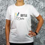 Balti marškinėliai Mokytoja Daiva