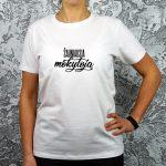 Balti marškinėliai Šauniausia mokytoja