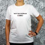 Balti marškinėliai su užrašu Mokymo režimas išjungtas
