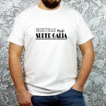 Balti vyriški marškinėliai Mokymas mano super galia