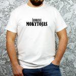 Balti vyriški marškinėliai Šauniausias mokytojas