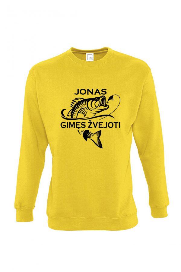 Geltonas džemperis Jonas gimęs žvejoti