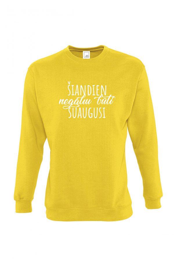 Geltonas džemperis Šiandien negaliu būti suaugusi
