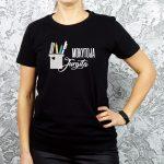 Juodi marškinėliai Mokytoja Jurgita