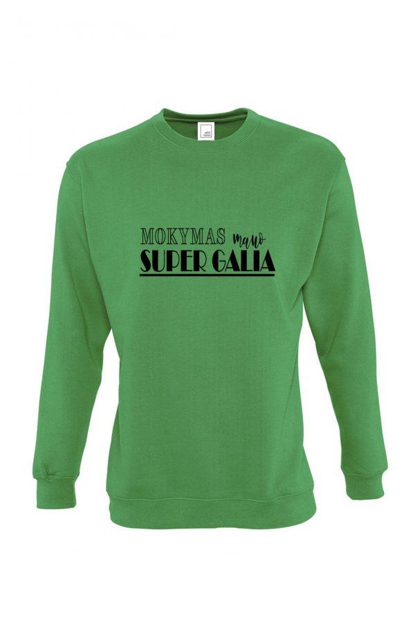 Žalias džemperis Mokymas mano super galia