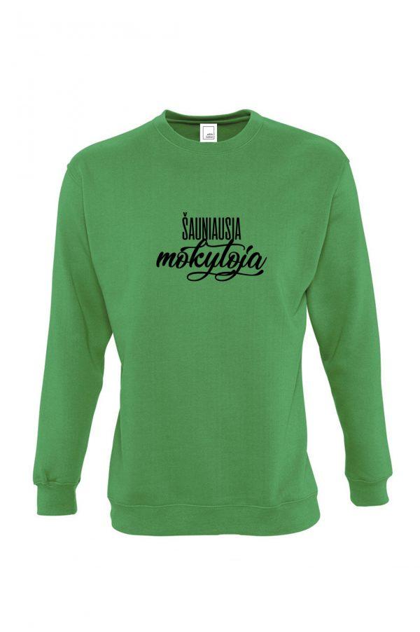Žalias džemperis Šauniausia mokytoja